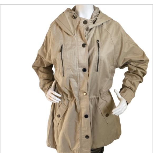 Mexx Jackets & Blazers - NWT khaki lightweight hooded jacket/rain coat-12